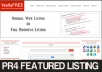 Give you a PR4 Featured Directory listing