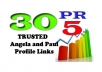 boost your SERP using 30+ PR5 Angela and Paul do follow Backlinks and Pinging them for fast Index Result for