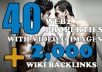 create a Link Pyramid MANUALLY With 40 Web 2 Properties + 2,000 Wiki Pointed On Them ~~!!