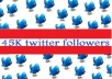add 45,000+ guaranteed twitter followers to your twitter account in less than 25 hours even without admin access