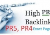 manually build 4PR5, 20 PR4 and 40 PR 3 dofollow actual page pr backlinks special limited offer  