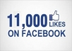 give you Good Qualitty 11,OOO +++ Faceboook Fanpage likes, just for fanpage only, delivery time maximum 48 hours, you can order 100 time for same page
