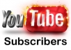 i can give you 350+ real youtube subscribers to your account. all subscribers are real for $5, for more orders  offer bonus up to 301 subscribers