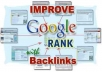 create a quality backlinks to your website six days a week for six months