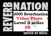 get you 3000 Reverbnation video plays to your Reverbnation profile