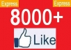 give 6000 to 8000++ Real and Active [[PERMANENT Guaranteed]] Usa and Worldwide facebook likes to your fanpages in less then 12 hours ..../..