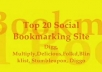 submit your blog, site or any other url MANUALLY to 20 Social Bookmarking sites PR4 to PR8, and get Bonus 5 edu backlinks.....