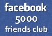 advertise your website on Facebook to my 5000 Real and loyal friends!!