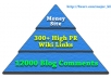 create || Super Link Pyramid || with || 300 High PR Wiki Links || then || SuperCharge || them with || 12000 Blog Comments ||..@