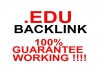 create 360+ Edu Backlink To Your Website, Google Loves Edu Backlink