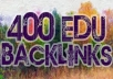 create over 500 EDU Backlinks for your website to help your website get #1 Page in Google