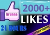 give 2000+ High Quality Likes On Your Facebook 1500+ Fans And 500+ Likes On Your Page Recent Posts ~~!!~~