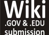 create 1000 contextual high PR EDU and GOV WIKI backlinks