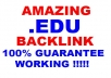 create 360 Permanent and Live Forever Powerfull Edu Backlink GUARANTEE WORKING for your website in 24 hour