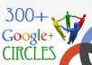 deliver 290+ Google plus Circles Real Human to seo rock up your high rank on google