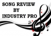 Get Your Song Reviewed By Indie Record Label Executive