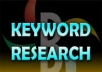do indepth keyword research + provide high traffic, low competition keyphrases on a given niche using market samurai