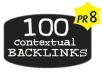 Make 100 PR1 to PR8 Contextual Backlinks + 10000 Blog Comments + Report