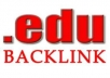 create 10+ edu backlinks dofollow  unique domain