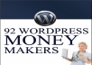 Give you 2 ebook How to use PINTEREST for Business+ 92 wordpress money makers