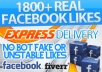 give you Express 2800+ Facebook Fans / Likes without admin access