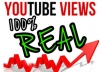 give you 1000 REAL youtube views and 25 likes with a natural pattern over a full week 140+ views a day.........