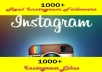 give 1000 Instagram Followers and 1000 High quality Instagram Likes no password required