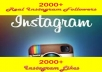 give 2000+ Instagram Followers and 2000+ High quality Instagram Likes no password required