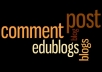 do 200 EDU Blog Comment Backlinks from Edu Blogs Safe for Google~~!!~~
