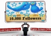 send You 10,000+ Real Looking Twitter .......FOLLOWERS within 24 Hour