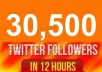 add 24,000++ TWITTER followers no need password to your your link no admin access fastly less than 15 hours for