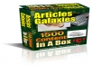 will give you more than 1500 PLR articles with Bonus