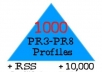 make link pyramid 1000 PR3 to PR8 profiles and 10,000 blog comments