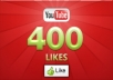 give you 400 Guaranteed YouTube Likes [Real human]or 2 orders offer bonus For 50 Likes,for 3 orders offer bonus For 100 Likes