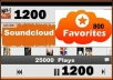 add 1200 Soundcloud Favorite and 25000 Plays To Any SoundCloud Track Within 24 Hours.....