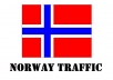 give Unique 3880+ Traffic From Norway to your Website Adsense Safe Views Get Alexa Rank high