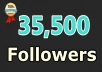 give you instant 35,500 twitter followers, no eggs, no unfollows, without admin access!!~~!!