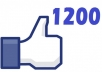 give you 1200+ likes to your facebook photo, video, post or status