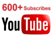 600+ REAL youtube subscribers to your New channel
