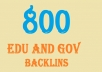 help you to get more than 800 edu and Gov backlinks to your website through blog comments