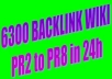 build 6300+ verified wiki backlink PR2 to you site @!