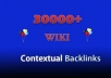 add Your Website to 30000+ WIKI Contextual Backlinks + Full Report + Ping...........