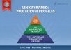 build an eminent Panda and Penguin safe backlink pyramid consisting of 7000 forum profiles ...!!!!!!