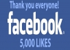 give you 5000+ REAL Worldwide Facebook Fans Likes to your fanpage
