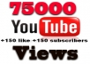give your YouTube Video Over 75000 Views +200 Likes + 200 Subscribers Guaranteed within 4-5 days