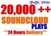 *****give you 20,000+ SOUNDCLOUD plays in 24 hours