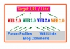* build 9 BackLink Pyramids with 9 Web20 Properties + 100 Instant Mixed Links to those WebLogs
