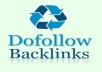 give 500 Do follow Backlinks