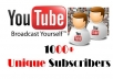 give you 1000++ Real YouTube Subscribers SUPER FAST DELIVERY for YouTube channel 