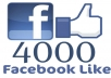 Get you 4000+ Real Human Facebook Likes for